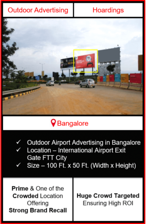 Outdoor airport advertising in Bangalore, outdoor airport advertising in Bengaluru, hoarding advertising in Bangalore, Bengaluru outdoor ads agency, airport advertising agency in bengaluru