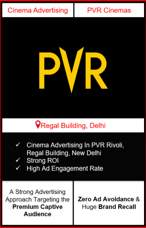PVR Cinema Advertising in Rivoli, Connaught Place, New Delhi advertising on cinemas in New Delhi, Cinema ads in Rivoli, Connaught Place, New Delhi advertising in New Delhi, PVR Cinemas Advertising in New Delhi