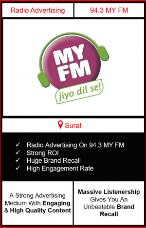 Radio Advertising in Surat, advertising on radio in Surat, radio ads in Surat, advertising in Surat, 92.7 BIG FM Advertising in Surat