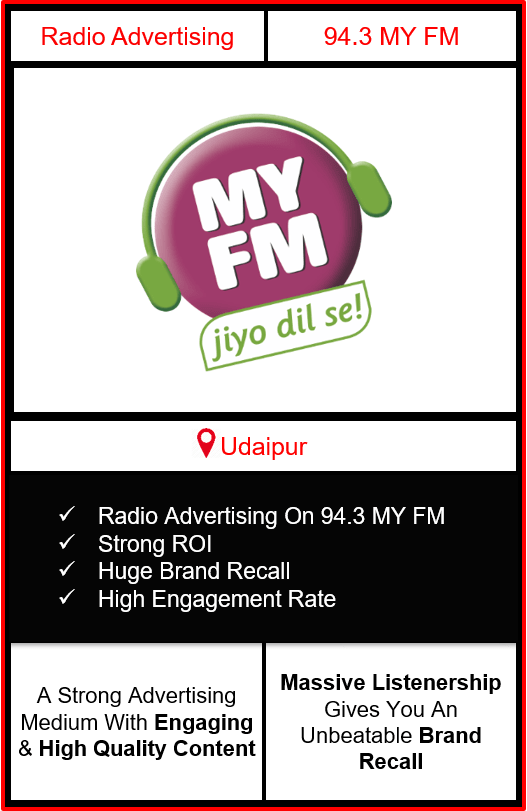 Radio Advertising in Udaipur, advertising on radio in Udaipur, radio ads in Udaipur, advertising in Udaipur