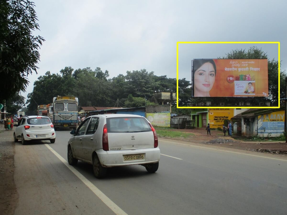 Option No.3 Outdoor Hoarding Advertising at Aashan Raipur Road, Bastar