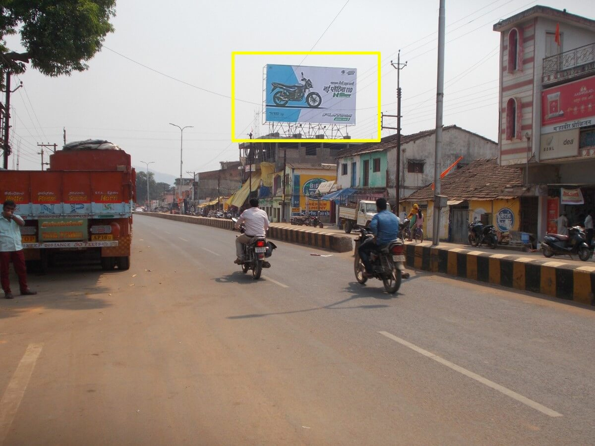 Option No.1 Outdoor Hoarding Advertising at Main Market, Raigarh