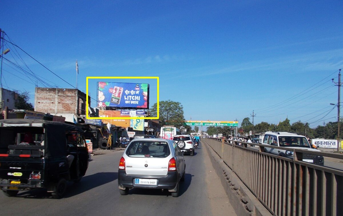 Option No.1 Outdoor Hoarding Advertising at New Bus Stand Road, Bilaspur