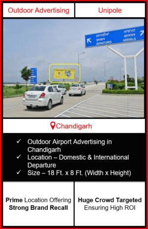 Outdoor airport advertising in chandigarh, outdoor airport branding in chandigarh, chandigarh unipole airport advertising, ooh advertising in chandigarh, outdoor airport advertising agency in chandigarh