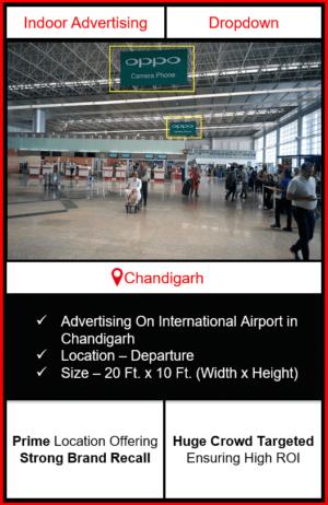 airport advertising in chandigarh, indoor airport branding in chandigarh, chandigarh airport advertising, advertising in chandigarh, indoor airport advertising agency in chandigarh