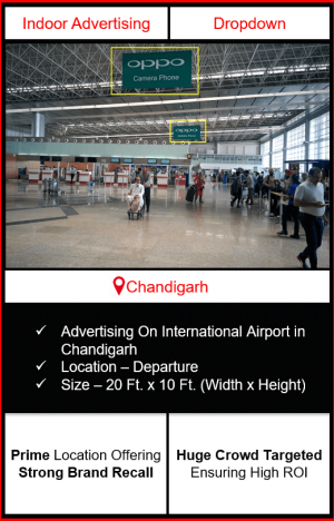 airport advertising in chandigarh, indoor airport branding in chandigarh, chandigarh airport advertising, advertising in chandigarh, indoor airport advertising agency in chandigarh