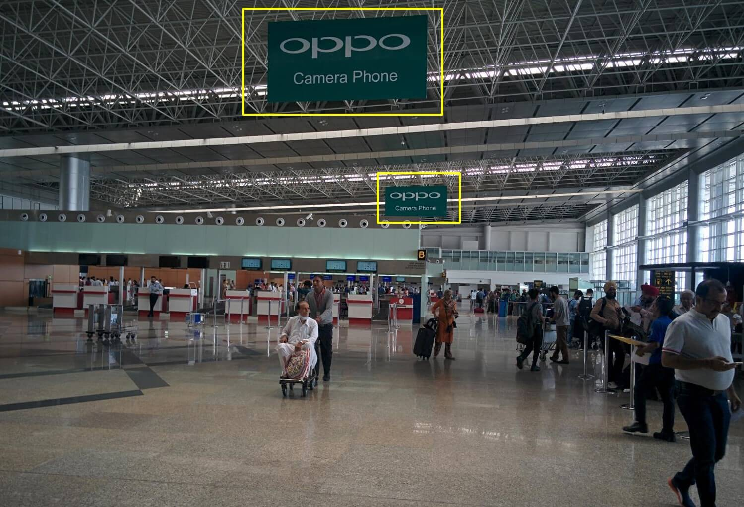 Option No.2 Dropdown Branding at Chandigarh International Airport (Departures)
