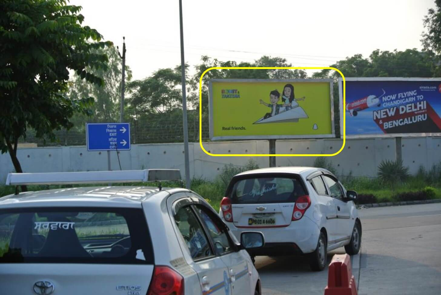 Option No.2 Outdoor Unipole Advertising at Domestic & International Arrivals, Chandigarh International Airport