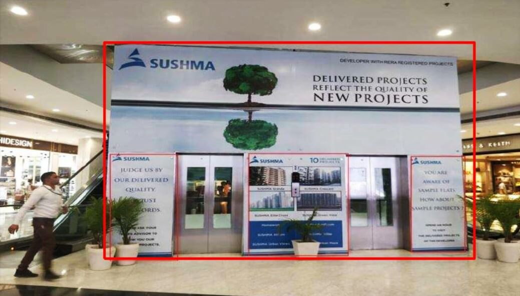 Main Lift Branding at Ground Floor, Elante Mall, Chandigarh