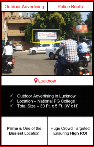 Outdoor advertising in lucknow, police booth advertising in lucknow, lucknow outdoor advertising, ooh advertising in lucknow, outdoor advertising agency in lucknow, uttar Pradesh