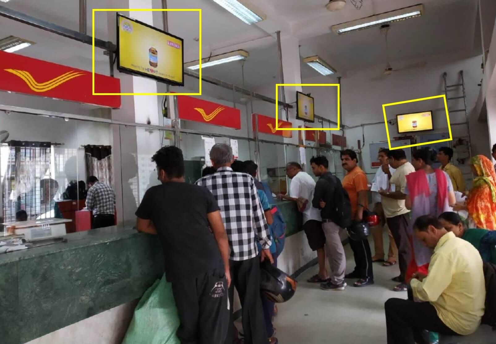 Led Screen Advertising at Post Office - Lodi Road, Delhi