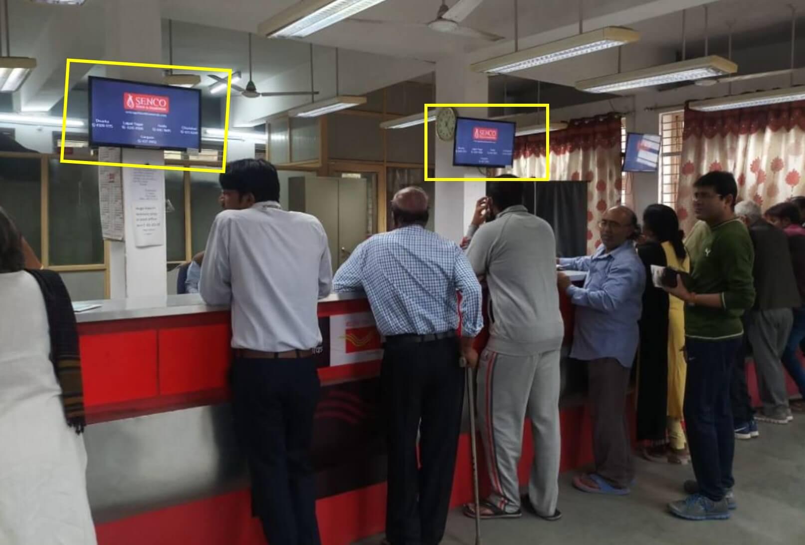 Led Screen Advertising at Post Office - Sarojini Nagar, Delhi