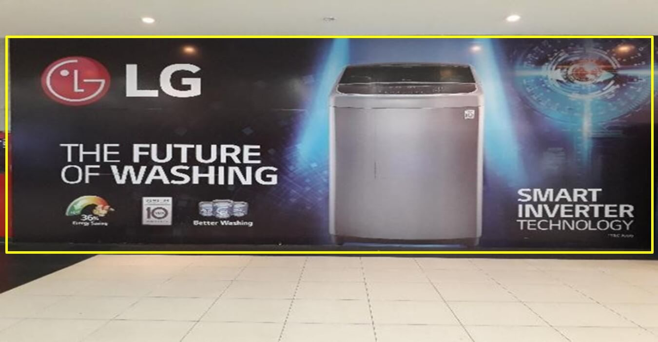 Wall Branding at Near PVR Cinemas, Elante Mall, Chandigarh