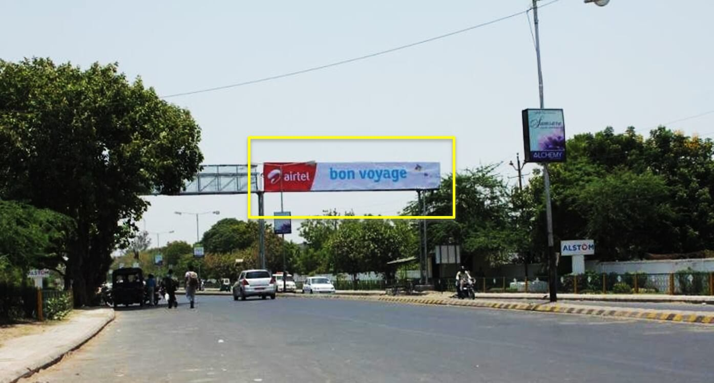 Option No.1 Outdoor Gantry Advertising at Airport Entry (Manekpar to Airport), Vadodara, Gujarat