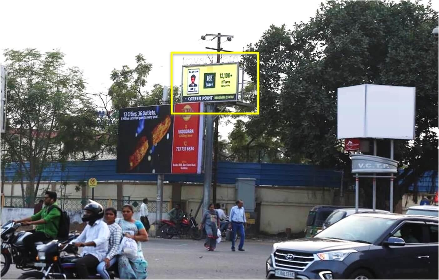 Option No.2 Outdoor Led Screen Advertising at Airport Circle, Manekpark 4 Rasta, Vadodara, Gujarat