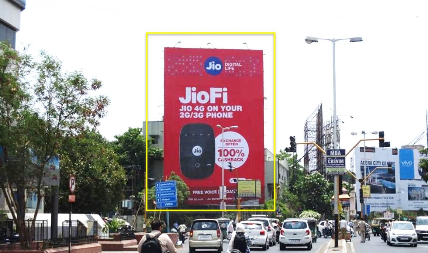 Option No.2 Outdoor Hoarding Advertising at Ellora Park Junction from Inox, Vadodara, Gujarat