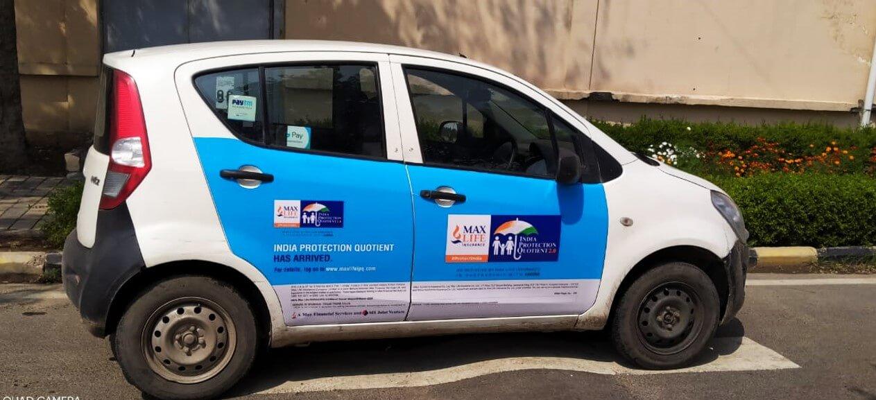 Option No.1 External Branding on Cabs in Delhi
