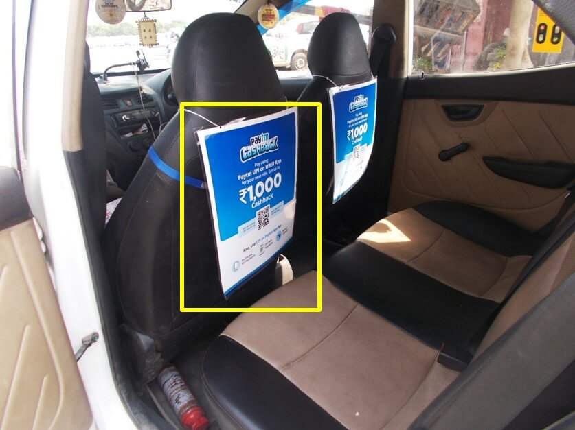 Option No.2 Internal Branding on Cabs in Agra