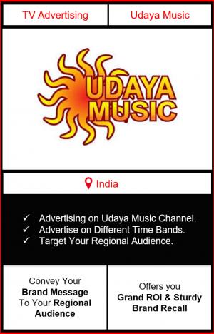 advertising on udaya music, udaya music advertising, ad on udaya music, udaya music branding