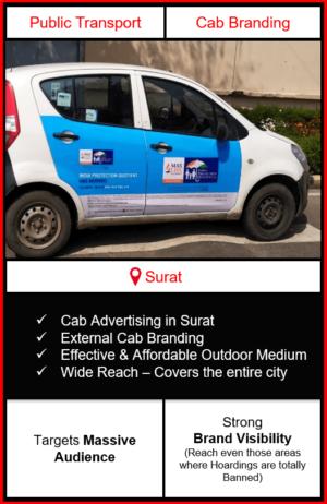 cabs advertising in surat, cab branding in surat, advertising on cabs in surat, cab branding, cab advertising