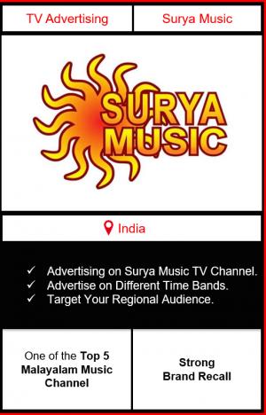 surya music advertising, ad on surya music, advertising on surya music, surya music advertising agency