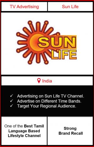 sun life advertising, advertising on sun life tv channel, ad on sun life, branding on sun life, sun life advertising agency