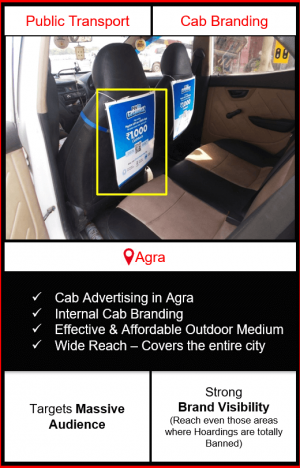 cabs advertising in agra, cab branding in agra, advertising on cabs in agra, cab branding, cab advertising