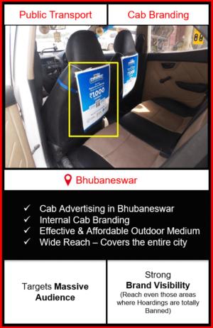 cabs advertising in Bhubaneswar, cab branding in Bhubaneswar, advertising on cabs in Bhubaneswar, cab branding, cab advertising