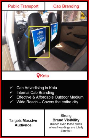 cabs advertising in kota, cab branding in kota, advertising on cabs in kota, cab branding, cab advertising