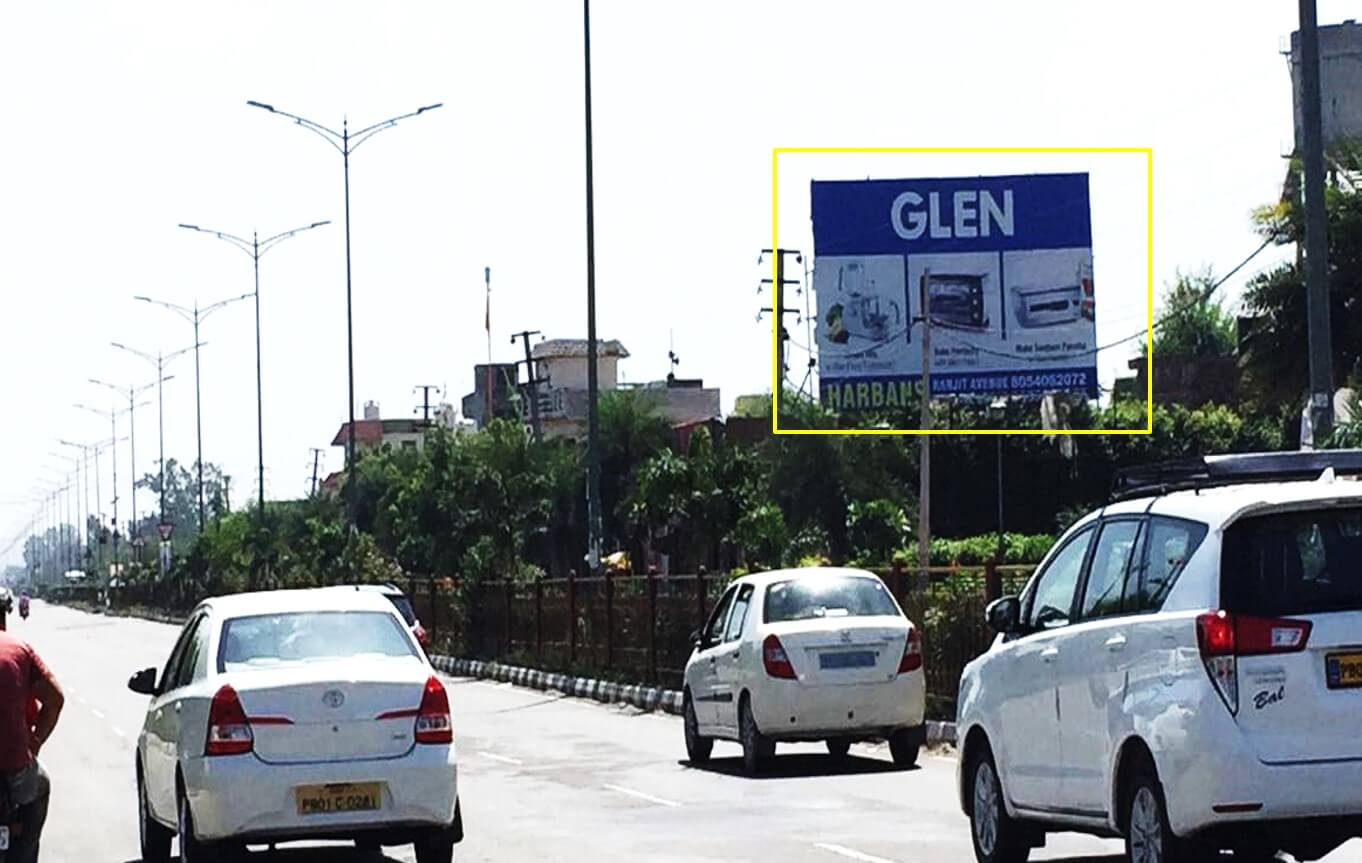Option No.3 Hoarding Advertising at Airport Road Opposite Omaxe Mall , Amritsar