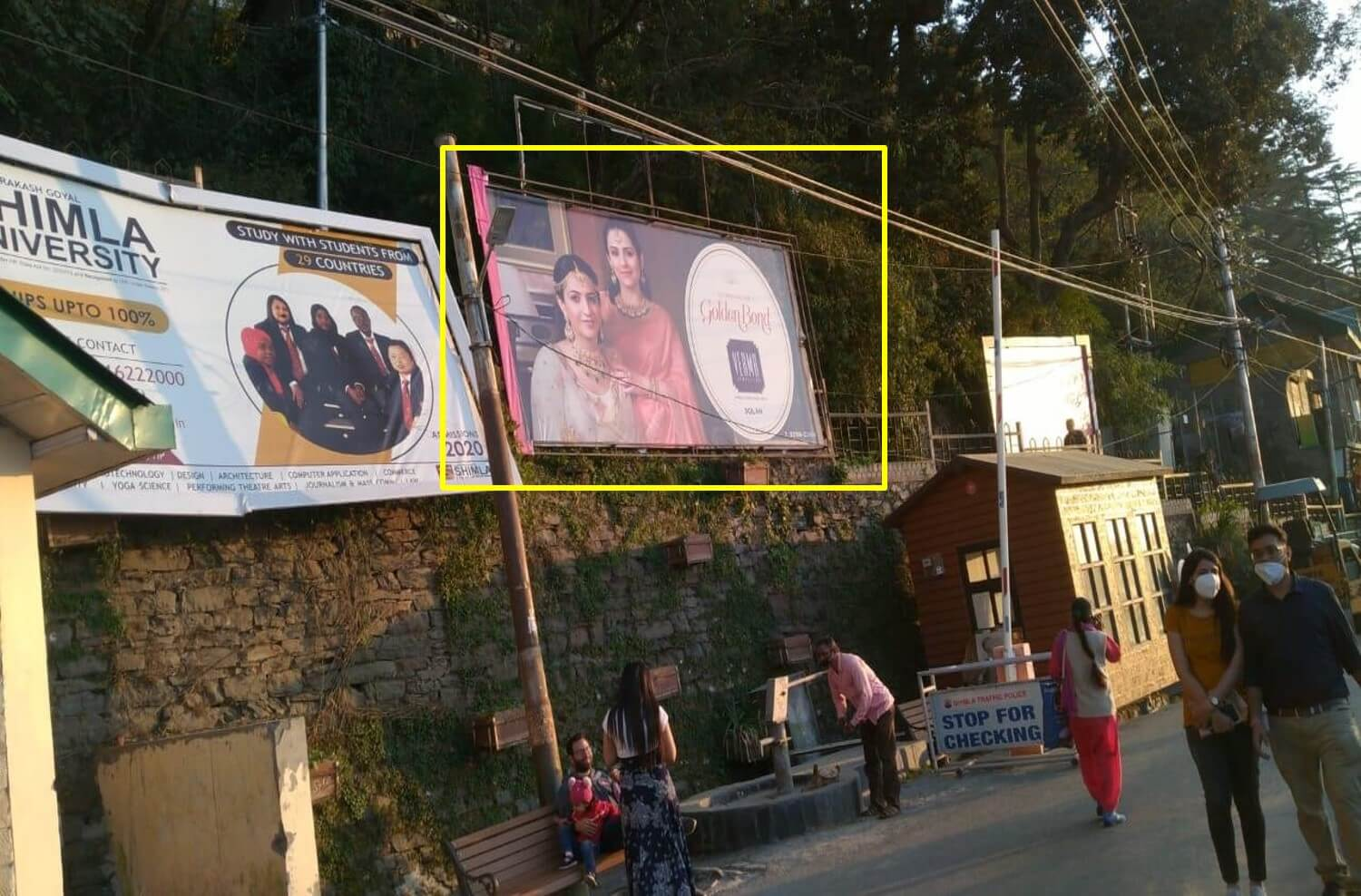 Option No.1 Hoarding Advertising at Lakkar Bazaar, Shimla