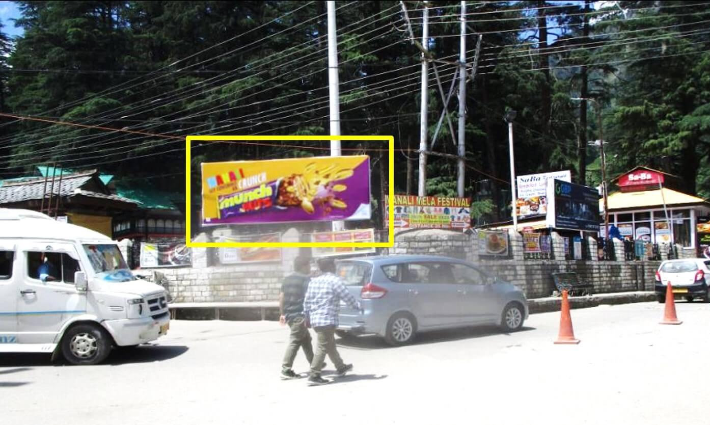 Option No.1 Hoarding Advertising at Mall Road, Manali