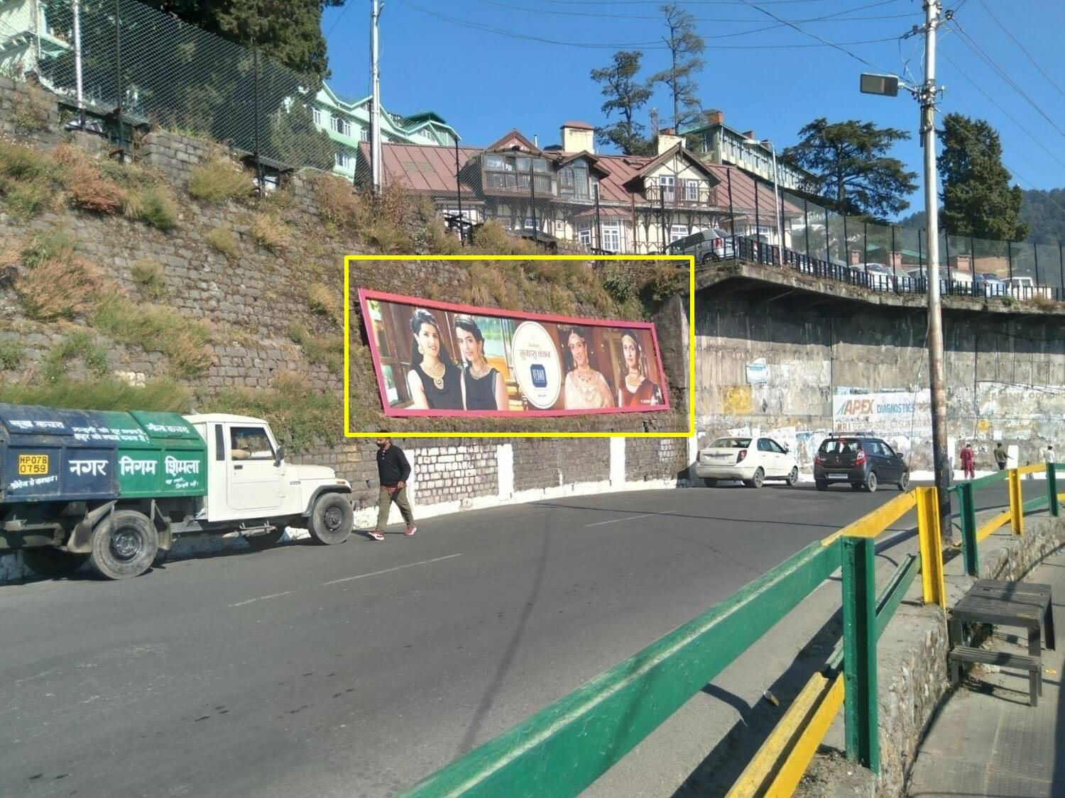 Media No.2 Outdoor Hoarding Advertising in Tunnel, Shimla