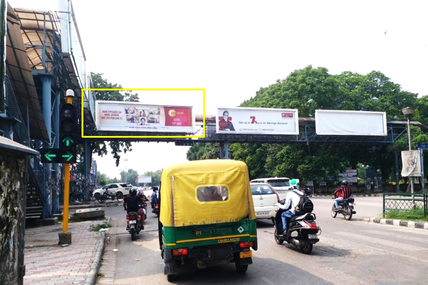 Gantry Advertising at Phase - 7 Market Traffic Lights (Traffic Facing Phase - 8), Mohali, Punjab