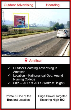 advertising in amritsar, outdoor hoarding advertising in amritsar, advertising agency in amritsar, hoarding branding in amritsar