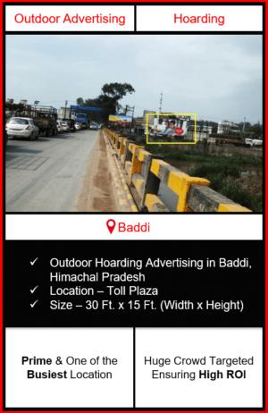 outdoor hoarding advertising in baddi, advertising in baddi, outdoor advertising in baddi, advertising agency in himachal pradesh