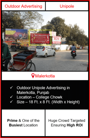 outdoor advertising in malerkotla, hoarding advertising in malerkotla, outdoor branding in malerkotla grewal chowk