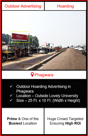 advertising in Phagwara, outdoor hoarding advertising in Phagwara, advertising agency in Phagwara, hoarding branding in Phagwara
