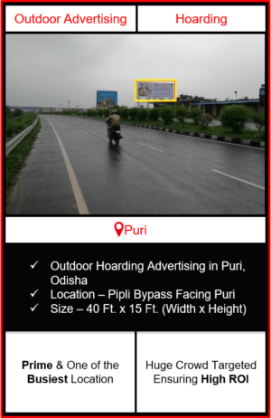 outdoor advertising in puri, hoarding advertising in puri, outdoor hoarding branding in puri, advertising agency in puri