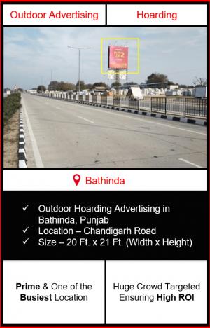 outdoor advertising in bathinda, hoarding advertising in bathinda, outdoor branding in bathinda