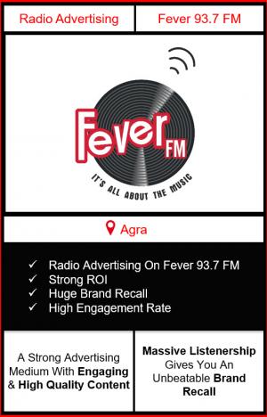 fever fm radio advertising in Agra, advertising on fever fm Agra, radio ads on fever fm, fever fm advertising agency, fever fm radio branding in Agra