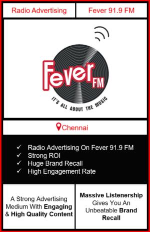 fever fm radio advertising in Chennai, advertising on fever fm Chennai, radio ads on fever fm, fever fm advertising agency, fever fm radio branding in Chennai