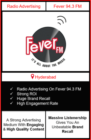 fever fm radio advertising in Hyderabad, advertising on fever fm Hyderabad, radio ads on fever fm, fever fm advertising agency, fever fm radio branding in Hyderabad