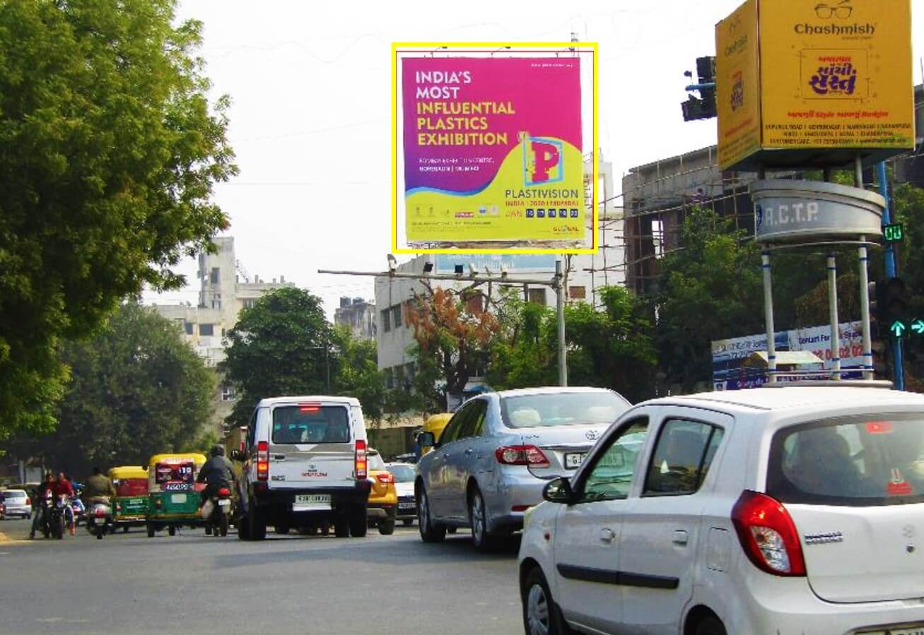 Outdoor Hoarding Branding at Ashram Road Junction, Ahmedabad