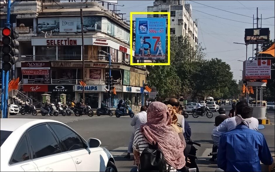 Outdoor Hoarding Branding at C.G.Road - Swastik Junction, Ahmedabad