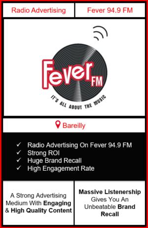 fever fm radio advertising in Bareilly, advertising on fever fm Bareilly, radio ads on fever fm, fever fm advertising agency, fever fm radio branding in Bareilly