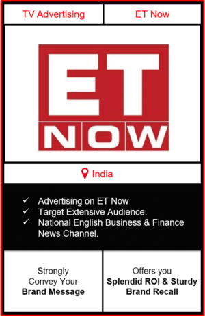 advertising on et now, et now advertising, branding on et now news channel, et now advertising