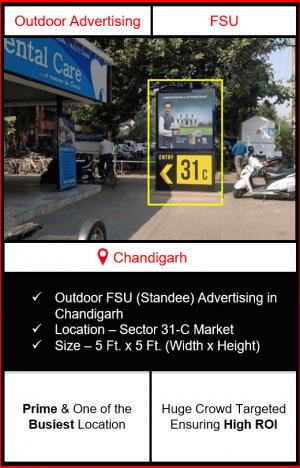 outdoor advertising in chandigarh, fsu branding in chandigarh, outdoor advertising in sector 31c, advertising agency in chandigarh