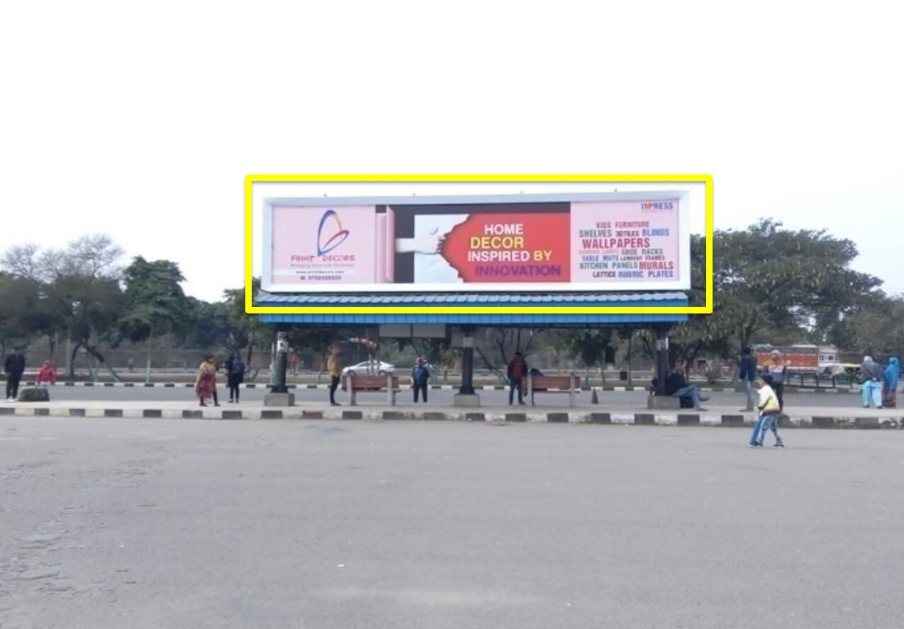 Option No.2 Hoarding Branding at Bus Queue Shelter - Exit of Chandigarh Railway Station