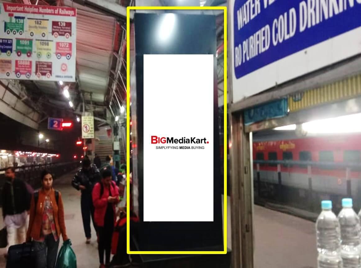 Option No.1 Pillar Branding at Platform No. 3 & 4 at Chandigarh Railway Station